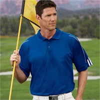 Adidas Golf ClimaLite 3-Stripes Cuff Polo Shirt