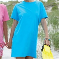 Anvil Scoop Neck Cover-Up Tee With Pockets