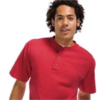 Anvil Cotton Deluxe Short Sleeve Henley T-Shirt
