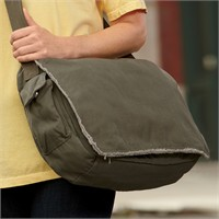 Authentic Pigment Raw-Edge Messenger Bag
