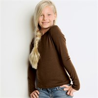 Bella Girl's Baby Rib Long Sleeve T-Shirt
