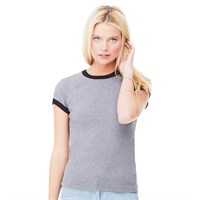 Bella Ladies' 1x1 Ribbed Ringer Tee