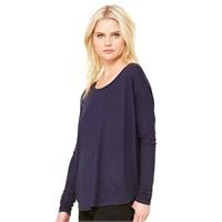 Bella Ladie's Flowy Long-Sleeve T-Shirt with 2x1 Sleeves