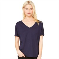 Bella Ladie's Flowy Simple V-Neck T-Shirt