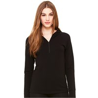 Bella Ladies' Half-Zip Cotton-Spandex Hoodie
