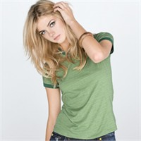Bella Ladies' Heather Ringer Tee