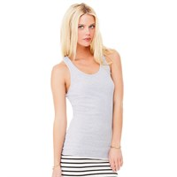 Bella Ladies' Ribbed Racerback Tank Top