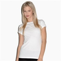 Bella Ladies Short-Sleeve Jersey Yoke T-Shirt