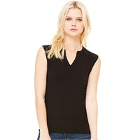 Bella Ladies' Slit-V Raglan T-Shirt