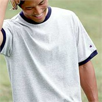 Champion Tagless Ringer Tee
