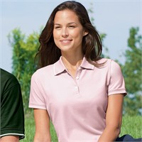 Devon & Jones Ladies' Pima Pique Collar Tipped Polo Shirt