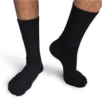 Gildan Men's Black Crew Socks (6 Pairs)