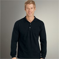 Gildan Long Sleeve Pique Knit Polo Shirt