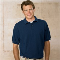 Hanes Pique Knit Polo Shirt