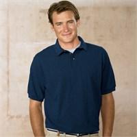 Hanes Pique Knit Polo Shirt