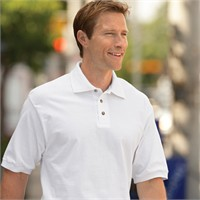 Jerzees Cotton Jersey Knit Polo Shirt