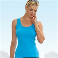LAT Ladies Combed Cotton Ribbed Tank Top
