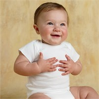 Rabbit Skins Infant Lap Shoulder T-Shirt