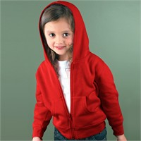 Rabbit Skins Toddler Full-Zip Hooded Sweatshirt