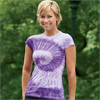 Tie-Dye Ladies' 100% Spun Polyester with Moisture Management T-Shirt