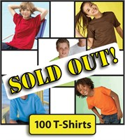 Youth 100 Piece T-Shirt Bulk Lot